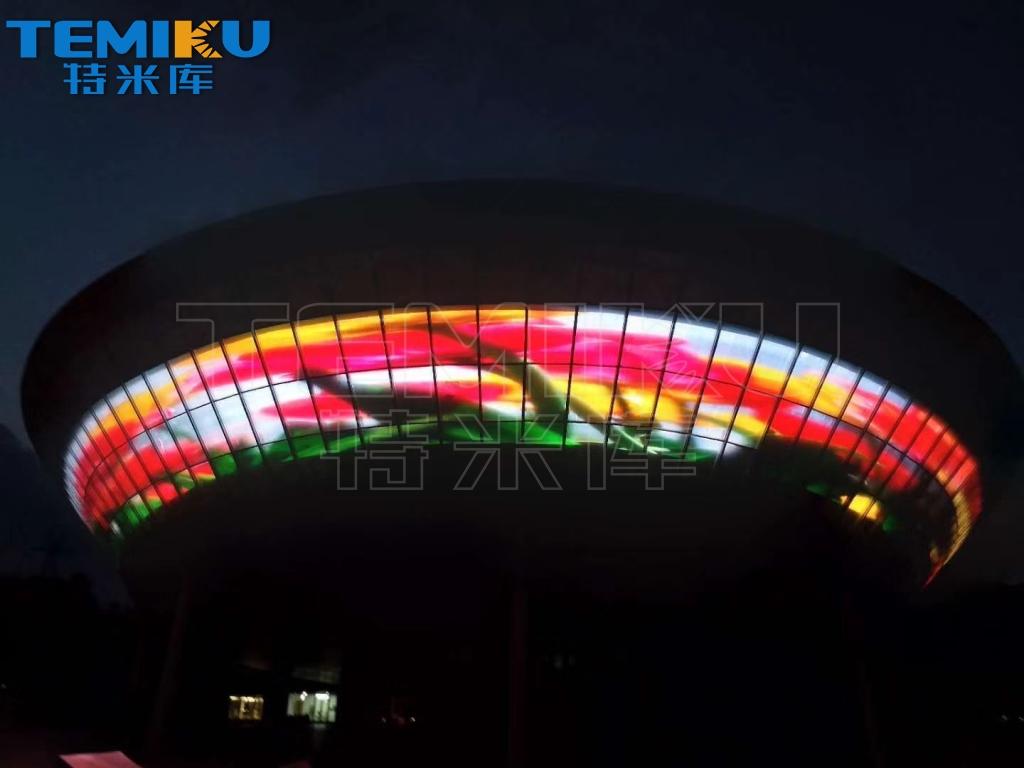 弧形led透明屏