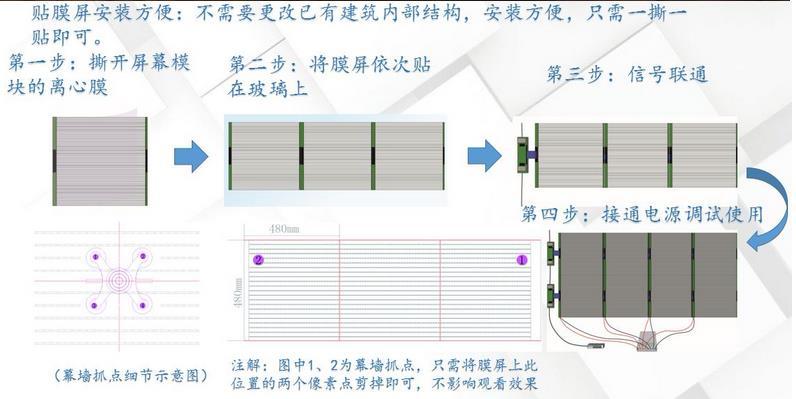 贴膜屏安装方式